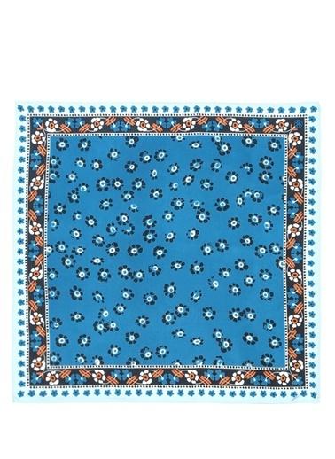 Tory Burch Fular Mavi